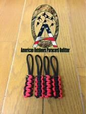Black and Red Jeep Wrangler Zipper Pulls YJ TJ JK JKU
