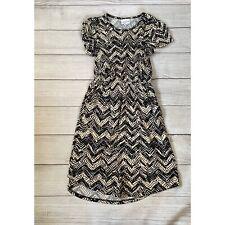 lularoe Girls Mae Dress Black And Cream Size 12