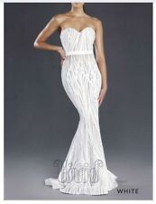 White Mermaid Sequin Formal Gown