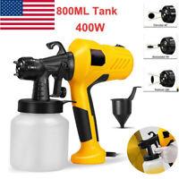 High Power Home Painting Tool Sprayer Handheld Electric Spray Gun 800ML USA
