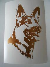 Schäferhund Aufkleber kupfer neu 13 x 8cm