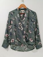 [ Everybody Talks ] Women's Floral Printed Wrap Blouse Top| Size S or AU 8-10