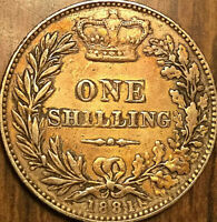 1881 GREAT BRITAIN VICTORIA SILVER SHILLING COIN - Excellent but also polished