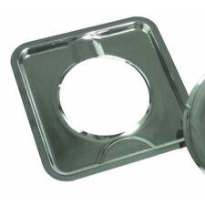 "Camco 00373 7-3/4"" Square Gas Drip Pan (Chrome)"