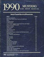 1990 Ford Mustang Shop Manual Original 90 LX GT Repair Service Book OEM Dealer