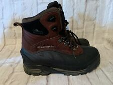 COLUMBIA Men's Size 8 Boots Brown BugaBootoo  Waterproof  insulated Hiking