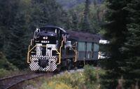 Unidentified Railroad Locomotive 8223 Passenger Train Original 1997 Photo Slide