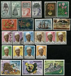 SIERRA LEONE Postage AFRICA Stamp Collection BRITISH Commonwealth Used Mint LH