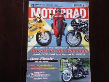 Motorrad 23 1996 Ducati 916 Honda VTR 1000 Suzuki TL 1000 Moto Guzzi 75 Jahre