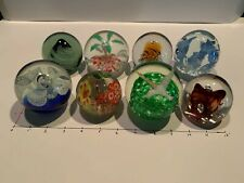 Lot #1 of 8 Beautiful Paperweights