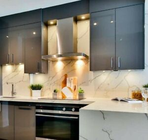 High Gloss Metallic Anthracite Acrylic Kitchen Door