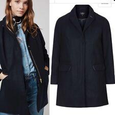 Topshop NAVY Mia Slim Pocket Zip Biker Boyfriend Crombie Jacket Coat 4 - 16 New