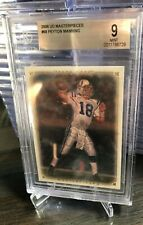 New listing 2008 UD Masterpieces #68 Peyton Manning Colts BGS 9 MINT CERT# 0011786729