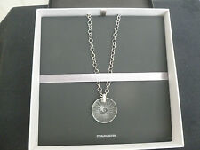 "Waterford Crystal Sterling Silver Maeve Starburst 18"" Necklace Boxed New"