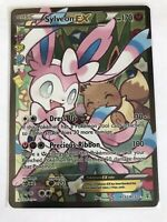 Sylveon EX FULL ART Ultra Rare RC32 XY Generations Radiant Pokemon Card, NM Holo