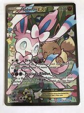 Sylveon EX FULL ART Ultra Rare RC32 XY Generations Radiant Pokemon Card, NM Holo