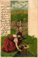 AK Künstlerkarte, Künstler Mailick, Fröhliche Ostern, 1901, 27/02