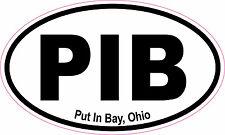 Put In Bay Ohio Oval Vinyl Sticker Decal 5x3