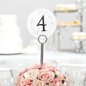 1-40 Filigree Round Wedding Table Numbers