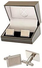 WEST HAM UNITED FC ENGRAVED CREST STAINLESS STEEL MENS EXECUTIVE CUFFLINKS WHFC