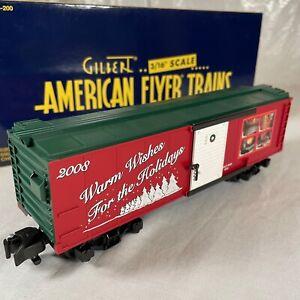 NIB American Flyer # 6-48374 Christmas 2008 Holiday Boxcar
