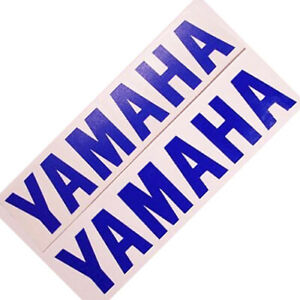 Yamaha BLUE 6.5in 16.5cm decal decals sticker r1 r6 yz fz8 fz1 dt Seca 85 250