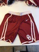 Game Worn Used Oklahoma Sooners OU Nike Women's Basketball Shorts Size 34