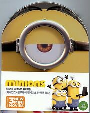 Minions Limited Edition MetalPak SteelBook w/1/4 Slip (Region A Korea Import)