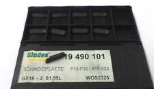 9 Stechplatten Inserts gx16 2s1.95l wos2325 p15-35 k10-25 de Wodex NEUF h9284