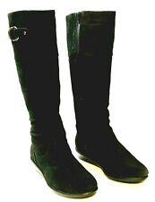 COLE HAAN black WATERPROOF suede BOOTS TALL zipper 7.5B EXCELLENT