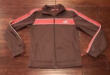 Puma Women's Brown Pink Athletic Track Warm Up Jacket Sz S