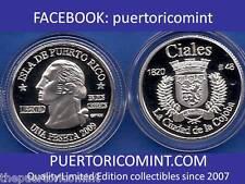Silver PESETA CIALES 2009 Puerto Rico Boricua Quarter 1/100 Plata