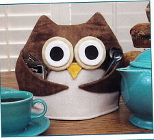 PATTERN - Tea For Who  - fun and easy Owl Tea Cozy PATTERN - great for gifts