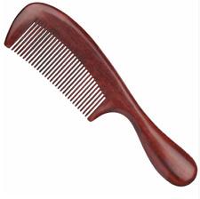 Mens Blood Sandalwood Comb Hair Brush Fashion Style Barber Wood Teeth Masculine