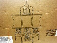 World Imports Crystal Chandelier 3 Light Black Matte Finish Model W18853-89
