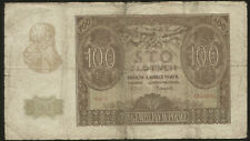 Poland 100 Zlotych 1940 Pick 97 VG