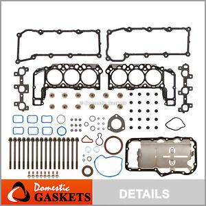 Fits 02-05 Dodge Ram Durango Dakota Jeep Liberty 3.7L MLS Full Gasket Set Bolts