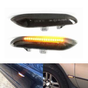 TYC Smoke Fender Side Marker Turn Signal Lights PAIR fits 99-01 BMW 3-Series E46