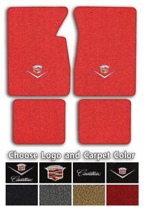 Cadillac Custom Logo Loop Carpet Floor Mats - Choose Mat Color And Logo