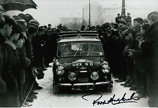 Paddy Hopkirk Hand Signed Mini-Cooper 12x8 Photo 2.