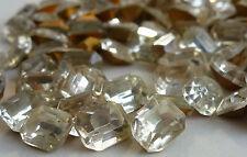 36 Vintage Glass Rhinestone Octagon Crystal TTC Cut Foiled Germany 10x8mm J4-6