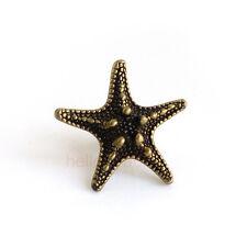 Bronze Starfish Pentagram Cabinet Knobs Furniture Drawer Pulls Closet Handles