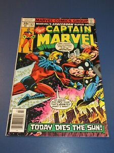 Captain Marvel #57 Bronze age Thor VF+ Beauty Wow