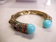 Heidi Daus Bracelet Turquoise Colored Crystal Cuff B140