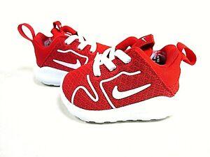 Nike Kaishi 2.0 844702 600 Red/White Baby Shoes, US Size 2 C (Crib), New