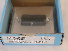 Heritage Brass LP5.8990.BK 6Amp Triple Pole Fan Isolator Satin Nickle Low Profil