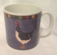 SAKURA WARREN KIMBLE COUNTRY QUARTET ROOSTER BRANDON HOUSE COFFEE MUG CUP BLUE