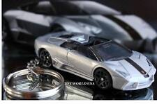 Custom Key chain Exotic Vehicle Lamborghini Reventon Roadster silver