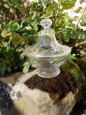 Ancien drageoir sucrier en cristal taillé cotes plates Baccarat St Louis ....19e