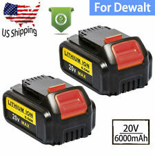 2 Pack 20V For DeWalt DCB206-2 20 Volt Max XR 6.0AH Lithium Ion Battery DCB205-2